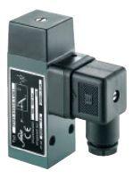 Мембранные/поршневые реле давления в алюминиевом корпусе с напряжением на контакте 250В, с перекидным контактом и интегрированным разъемом. Серии 0161, 0162