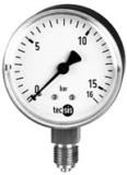 Стандартные манометры для измерения давления и вакуума.