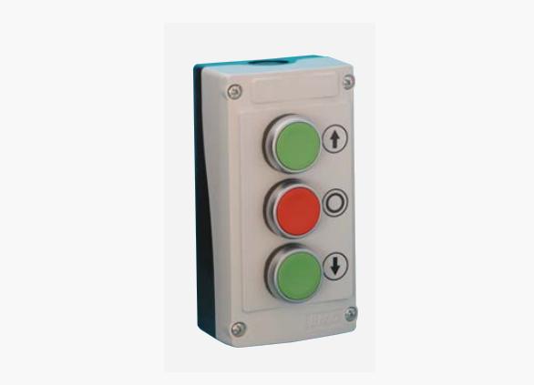Пост управления трехкнопочный LBX30430, 3 нажимные кнопки (Baco)