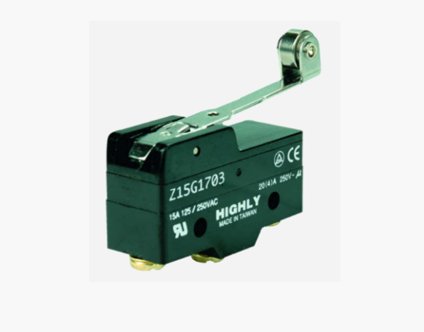 Концевой выключатель Z15G1703, с рычагом и роликом (Highly)