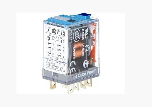 Миниатюрное реле C7-A20 DX110 VDC, с переключающими контактами (Releco). Напряжение катушки: 230 V; Номинальная нагрузка:10A / 250V AC1; 10A /30V DC1.; Количество контактов: 4 переключающих контакта; Исполнение контактов и катушек: общего назначения (A); Материалы контактов: стандарт; Исполнение катушки: F - диод и защита от смены полярности;