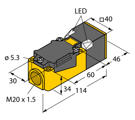 Индуктивный датчик NI40U-CP40-FDZ30X2 (Turck)
