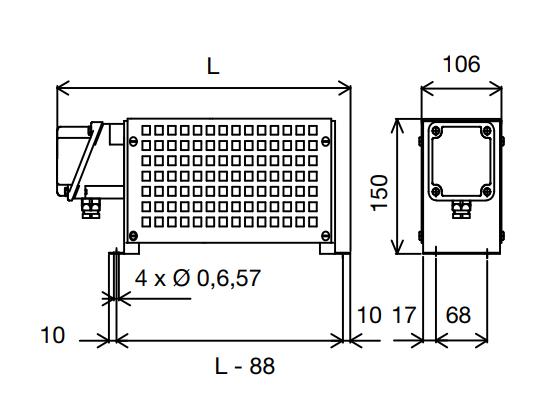 Модель RIM: однофазный промышленный конвектор 230 В