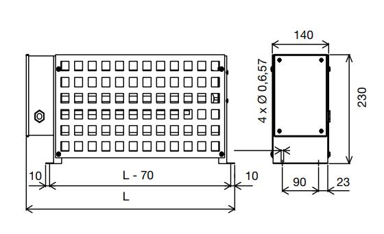 Модель RIT: однофазный или трехфазный промышленный конвектор 230/400 В