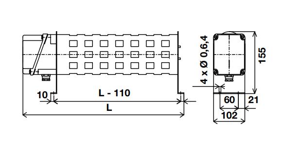 RIC - однофазный или трехфазный промышленный конвектор 230/400 В