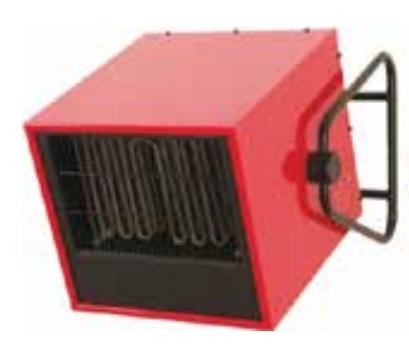 Электрические нагреватели воздуха для настенной стационарной высокоуровневой установки