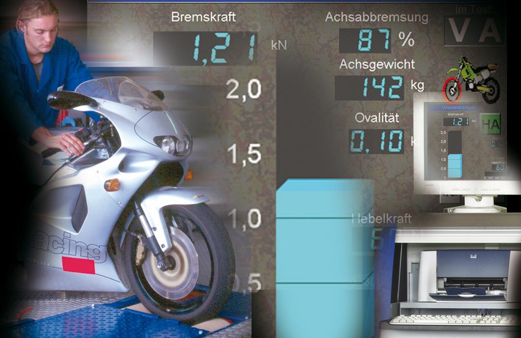 Роликовый тормозной стенд для мотоциклов MBT 1000 Eurosystem