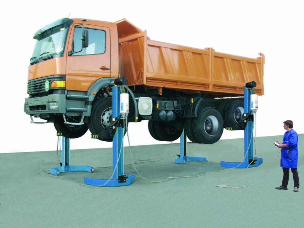 Подкатной подъемник для грузовиков и автобусов RGE