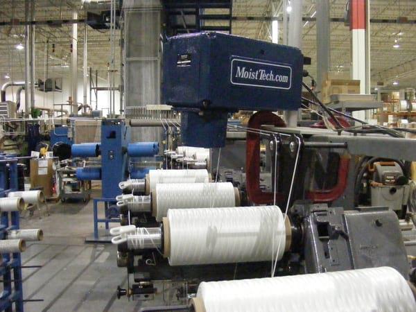 Измерение влажности при производстве текстиля