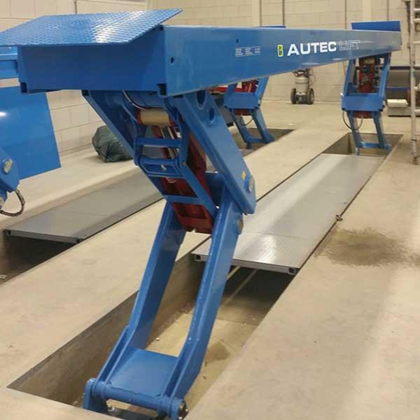 Ножничный встраиваемый подъемник Autec ASHDX8007IG - 8000 кг